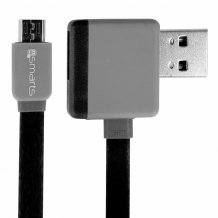 4smarts Stackwire MicroUSB datakabel 1m sort