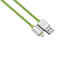 HAMA Lightning til USB datakabel 0.5m grøn/sølv
