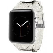 Apple Watch 38 mm Rem, Case-Mate Sheer Glam strap Champagne