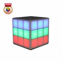 Rubiks Bluetooth LED Højttaler flerefarvet 360 graders lys hvid