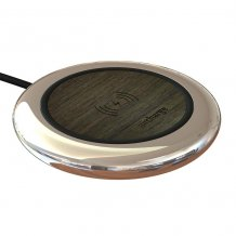Aircharge Executive Qi Wireless Charging Pad in Ebony Veneer