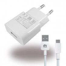 Huawei - HW-050100E01 - Charger / Adapter + Cable - USB - 1000mAh - White