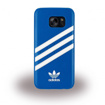 Adidas Basics - Hard Cover / Hard Case - Samsung G930F Galaxy S7 - Blue/White-1