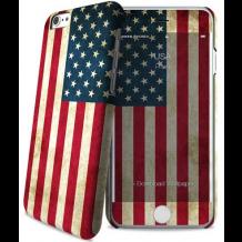 Apple iPhone 6 / 6S cover med amerikanks flag i-Paint Skin-1