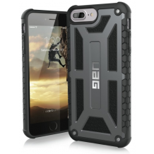 Apple iPhone 6 Plus/6S Plus/7 Plus/8 Plus Cover UAG Monarch Grå, Sort-1