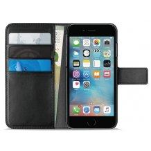 Apple iPhone 6 Plus/6S Plus/7 Plus/8 Plus Puro Milano Wallet flipcover med 3 Kreditkortlommer - Sort-1