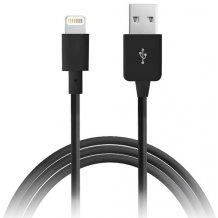 Puro Lightning til USB datakabel, Apple godkendt Sort