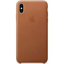 Apple iPhone XS Max Leather Case - Saddle Brown MRWV2ZM/A-1
