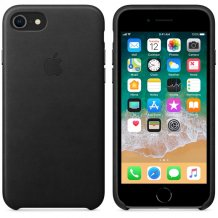 APPLE LEATHER CASE (IPHONE 8  BLACK)-1