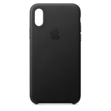 APPLE LEATHER CASE (IPHONE XS BLACK) MRWM2ZM/A-1