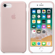 APPLE SILICONE CASE (IPHONE 8 PINK SAND)-1