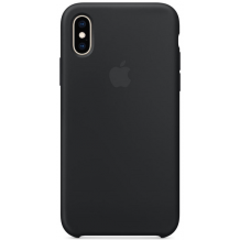 APPLE SILICONE CASE (IPHONE XS BLACK)-1