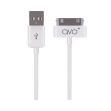 AVO+  charge and sync cableApple 30 pin  white 1m for iPhone 4/4s white-1