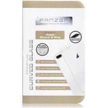 Bagside Panserglas til Apple iPhone 8, Panzer Tempered Glass, Sølv-1