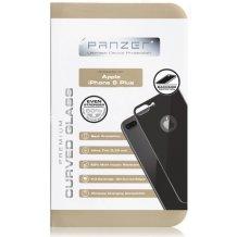 Bagside Panserglas til Apple iPhone 8 Plus, Panzer Tempered Glass, Sort-1
