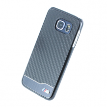 BMW - M Collection Real Carbon - Hard Cover/ Case - Samsung G920F Galaxy S6 - Black-1