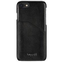 Bugatti Londra cover til iPhone 7 sort med Dankort lomme