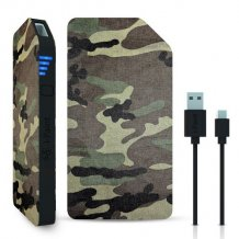 3000 mAh Powerbank / eksternt batteri 1A fra i-Paint, Camo