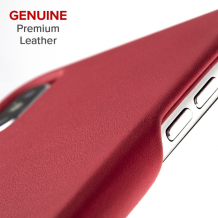 Case-Mate Barely There Leather iPhone XS/X Cardinal-1