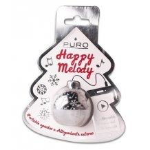 Julekugle Mini Højttaler til smartphones og tablets Sølv, perfekt adventsgave