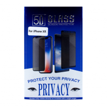 Cyoo - Apple iPhone XR - Privacy - 5D Glass Screen Protector - Black-1