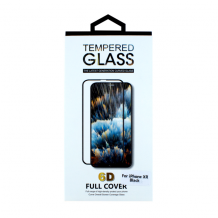 Cyoo - Apple iPhone XR - Screen Protector Tempered Glass 6D - Black-1