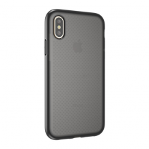 Cyoo - Dot Back Silicone Cover / Phone Case - Apple iPhone XS Max - Transparent / Black-1