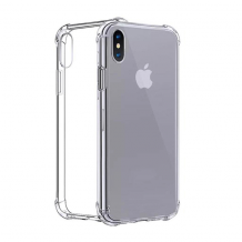Cyoo - Four Coners Silicone Cover / Phone Case - Apple iPhone XS Max - Transparent-1