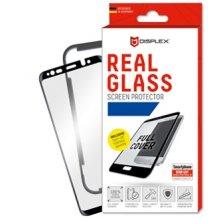 Displex - Real Glass 0,33mm 3D  + Frame - Samsung A530F Galaxy A8 (2018)- Screen glass Protectors - black-1