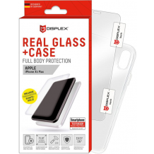Displex - Real Glass 0,33mm + Case - Apple iPhone X, Xs- Screen glass Protectors-1
