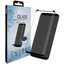 Eiger 3D Cover kompatibelt panserglas til Samsung Galaxy S8 - Gennemsigtig, Sort-1