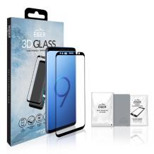 Eiger 3D Cover kompatibelt panserglas til Samsung Galaxy S9 - Gennemsigtig, Sort-1