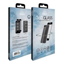 Eiger 3D fullbody (for- og bagside) panserglas til Apple iPhone 8 Plus - Gennemsigtig, Sort-1