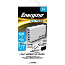 Energizer EU Multi Port 5 USB 40W No Cable White-1