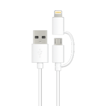 Energizer Hightech Duo Micro USB & Lightning Cable white-1