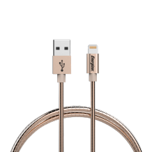 Energizer Lightning cable 1,2m Metal Sleeve champagne gold-1