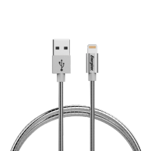 Energizer Lightning cable 1,2m Metal Sleeve silver colored-1