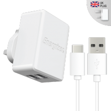 Energizer UK Mains Charger Dual Type-C 2.4A White-1
