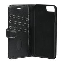 Essentials 2-i-1 Leather Wallet i ægte læder til Apple iPhone 6/6S/7/8 - Sort-1