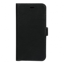 Essentials 2-i-1 Leather Wallet i ægte læder til Apple iPhone XR - Sort-1