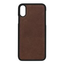Essentials 2-i-1 Leather Wallet i ægte læder til Apple iPhone XS Max - Brun-1