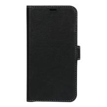 Essentials Leather Wallet i ægte læder til Huawei P20 - Sort-1