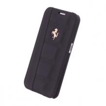 Ferrari - 458 Collection - Leather Book Cover/Book Case - Samsung G920F Galaxy S6 - Black-1