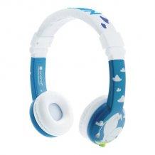 Foldbar børnehovedtelefon, Mumi m. mic, blå-1
