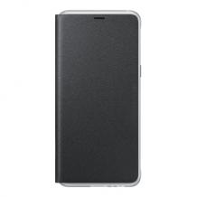 Galaxy A8 2018, Neon Flip Cover, Black-1