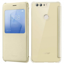 Huawei Flip Cover Honor 8 : Huawei Flip Cover Honor 8 Gold-1