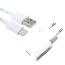 Huawei - HW-050200E3W / E01 - Charger / Adapter + USB Type-C Cable - 2000mA - White-1