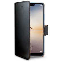Huawei P20 Lite flipcover Celly Wally Case - Sort-1