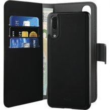 Huawei P20 Magnet pung taske og cover 2-i-1 fra Puro - Sort-1