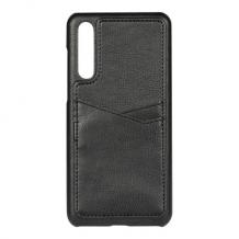 Huawei P20 Pro, PU Triple Card Cover, Black-1